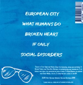 NW EP back cover